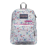 "Jansport Digibreak Backpack Fits up to 15"" - Multi Gray/Floral Haze"