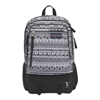 "Jansport Envoy Backpack Fits up to 15"" - Black/White Jazzy Geo"