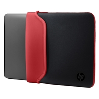 "HP Reversible Neoprene Sleeve Fits up to 15.6"" - Black/Red"