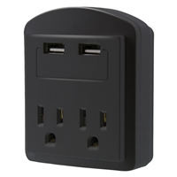 Aduro 2-Outlet SURGE Protector - Black