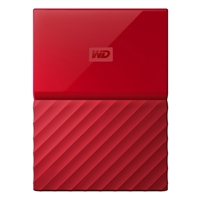 WD My Passport 4TB 5,400 RPM USB 3.0 Hard Drive - Red