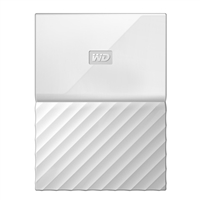 WD My Passport 4TB 5,400 RPM USB 3.0 Hard Drive - White