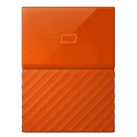 WD My Passport 4TB 5,400 RPM USB 3.0 Hard Drive - Orange