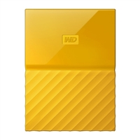 WD My Passport 4TB 5,400 RPM USB 3.0 Hard Drive - Yellow