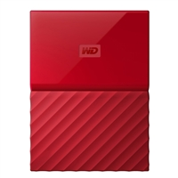 WD My Passport 2TB 5,400 RPM USB 3.0 Hard Drive - Red