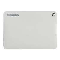 Toshiba Canvio Connect II Portable 3TB Hard Drive - White