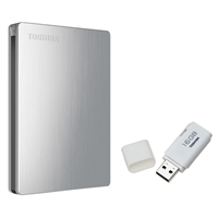 Toshiba Canvio Slim II 1TB Portable Hard Drive w/ USB 2.0 16GB Flash Drive