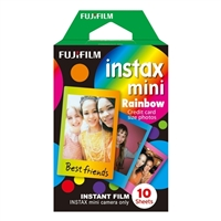 Fuji Instax Mini 8 Rainbow Film 10 Shots