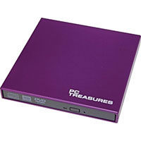 PC Treasures 8x USB 2.0 External DVD RW Drive Purple