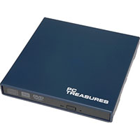 PC Treasures 8x USB 2.0 External DVD RW Drive Blue