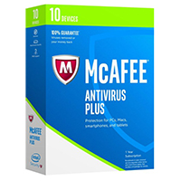 McAfee Anti Virus 2017 - 10 Devices (PC)