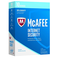 McAfee Internet Security 2017 - 10 Devices (PC)