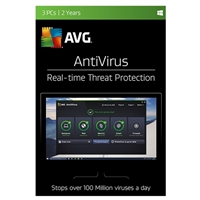 AVG Antivirus - 3 Devices, 2 Years (PC)