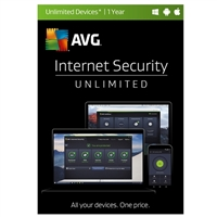 AVG Internet Security Unlimited - 1 Year (PC/Mac)