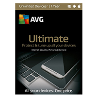 AVG Ultimate - Unlimited Devices, 1 Year (PC/Mac)