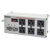 Tripp Lite 6 Outlet Metal Surge Protector 6 ft. Cord 3330 Joules - Light Gray