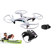 PaulG Toys Motion Controlled Explorer WiFi Camera Drone with FPV Headset