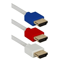 QVS 6 ft. (3-Pack) High Speed HDMI UltraHD Multi-color Flexible Cables w/ Ethernet