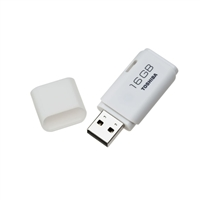Toshiba 16GB TransMemory USB 2.0 Flash Drive - White