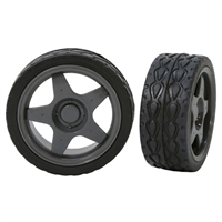 "Actobotics 2.55"" Press-Fit Robot Wheels Pair - Rubber Tire"