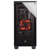 Corsair Crystal 460X ATX Compact Mid-Tower Computer Case - Black/Clear