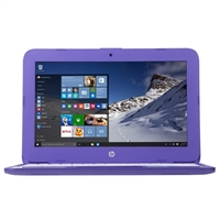 "HP Stream 11-y020nr 11.6"" Laptop Computer - Textured Linear Grooves in Violet Purple"