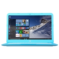 "HP Stream 14-ax010nr 14.0"" Laptop Computer - Aqua Blue"