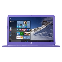"HP Stream 14-ax020nr 14.0"" Laptop Computer - Textured Linear Grooves in Violet Purple"