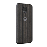 Motorola Shell Case for Motorola Z - Charcoal Ash Wood