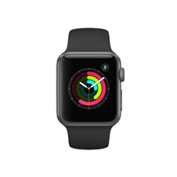 Apple Watch Series 1 38mm Space Gray Aluminum Case - Black Sport Band