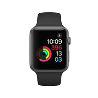 Apple Watch Series 1 42mm Space Gray Aluminum Case - Black Sport Band