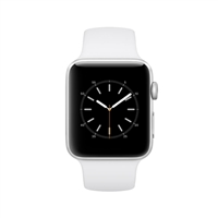 Apple Watch Series 2 42mm Silver Aluminum Smartwatch - White Sport Band