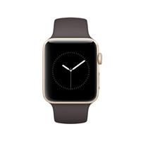Apple Watch Series 2 42mm Gold Aluminum Smartwatch - Cocoa Sport Band