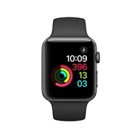 Apple Watch Series 2 42mm Space Gray Aluminum Smartwatch - Black Sport Band