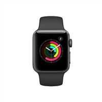 Apple Watch Series 2 38mm Space Gray Aluminum Smartwatch - Black Sport Band