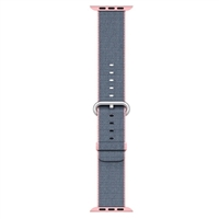 Apple 42mm Woven Nylon Band For Apple Watch - Light Pink/Midnight Blue