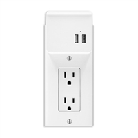 Aluratek 2-Port Wall Outlet USB Charging Faceplate