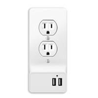 Aluratek 2-Port Wall Outlet USB Charging Plate