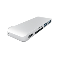 Satechi Type-C USB Passthrough Hub Silver