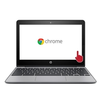 "HP 11-v020nr 11.6"" Chromebook - Ash Gray and Ano Silver"