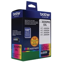 Brother LC30293PKS XXL Color Ink Cartridge 3-Pack