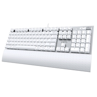Azio Backlit Mechanical Keyboard w/ Brown Switches (White)