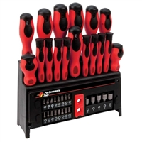 Performance Tools Screwdriver Set with Rack - 39 Piece