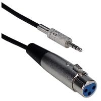 QVS 6 ft. XLR Female to 3.5mm Male Balanced Audio Cable