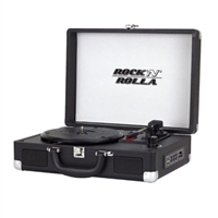 Rock 'n' Rolla Jr. Portable Briefcase Vinyl Turntable - Black