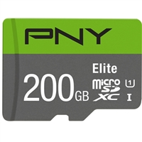 PNY 200GB Elite microSDXC Class 10 / UHS-1 Flash Memory Card