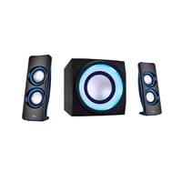 Cyber Acoustics CA-3712BT 2.1 Bluetooth Lighted Party Speakers w/ Multi-Colored  Lighting Effects