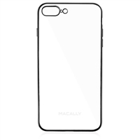 MacAlly Ultra Thin Soft Transparent Case for iPhone 7 Plus - Black Trim