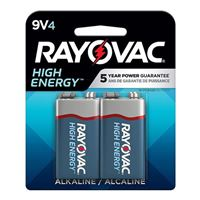Rayovac 9V Alkaline Battery 4-Pack