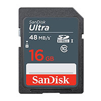 SanDisk 16GB Ultra Plus SDHC Class 10 / UHS-1 Flash Memory Card
